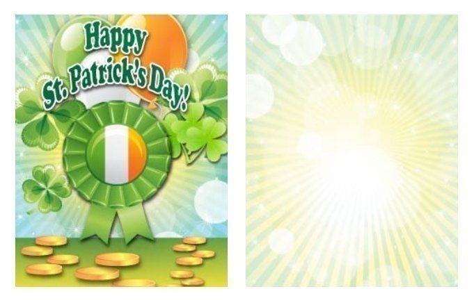 Green Ribbon St. Patrick's Day Card Template