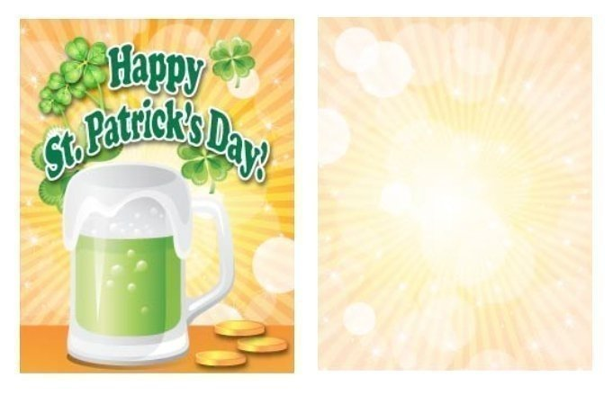 Green Beer Mug St. Patrick's Day Card Template