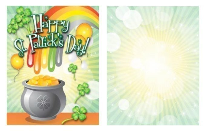 Pot-o-gold Small St. Patrick's Day Card Template