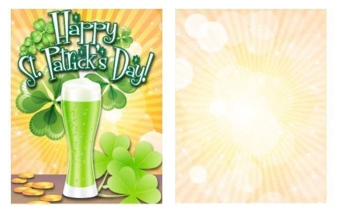 Green Beer Small St Patrick's Day Card Template