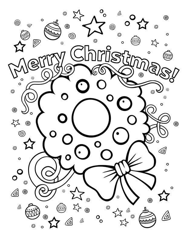 100 printable christmas coloring pages for kids of all ages. Black Bedroom Furniture Sets. Home Design Ideas