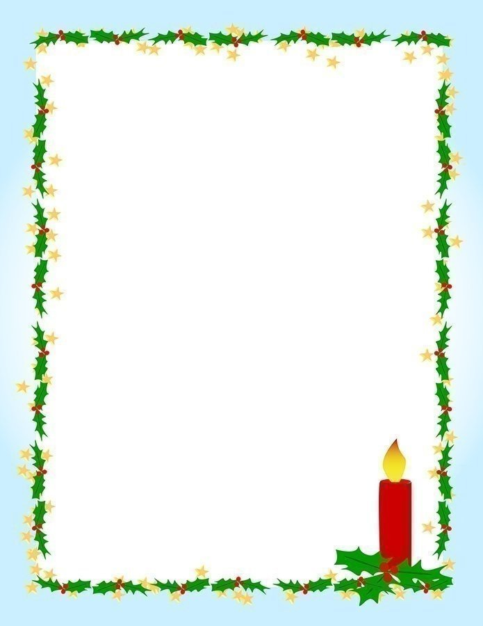 Decorative Christmas Frames And Festive Writing Paper For Your Kids