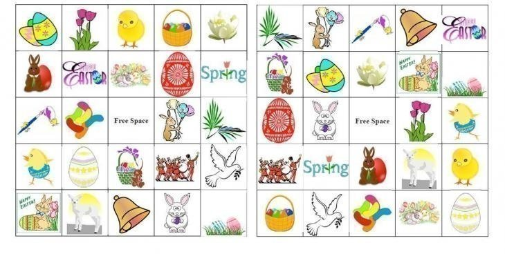 Easter Bingo Card Template