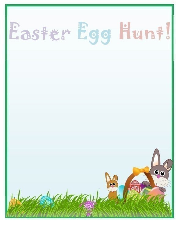Easter Egg Hunt Page Border Template