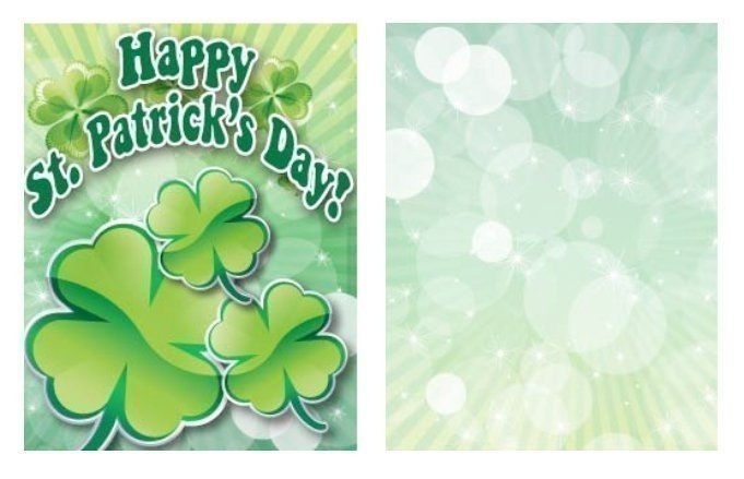 Shamrock St. Patrick's Day Card Template