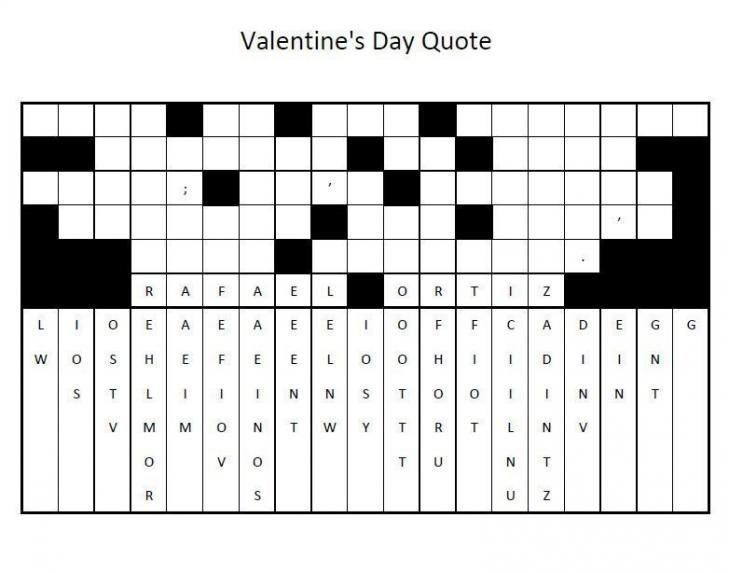 Valentine's Day Quote Activity Sheet