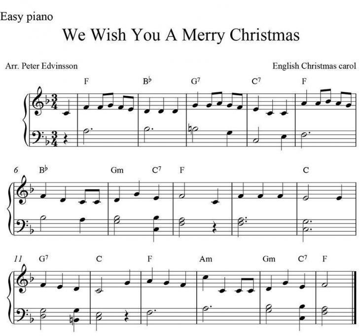 Best Free Christmas Sheet Music And Lyrics For The Piano